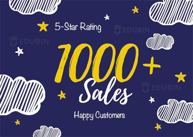 1000 sales | Edubin