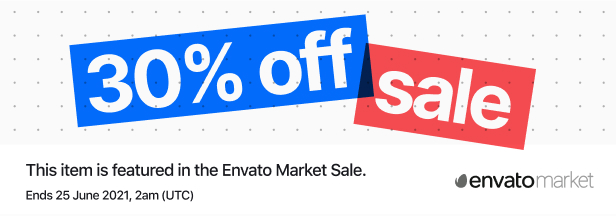 30% off, discounted, campaign, Envato's Mid Year Sale 2021